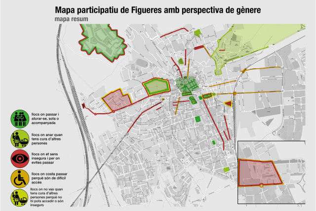 Participatory Map of Figueres with a gender perspective