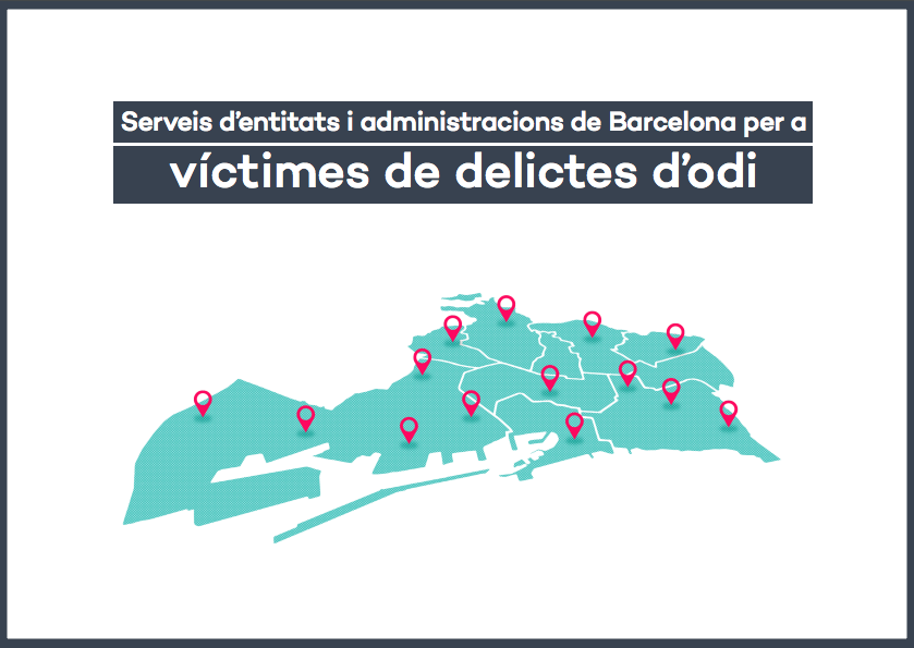 Map of services of entities and administrations of Barcelona for victims of hate crimes